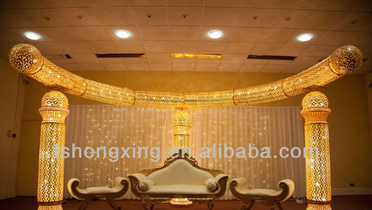 customized gold mandap gujarat for wedding and party decoration