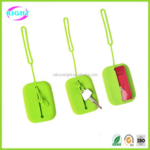 silicone smart key case/wallet , key chain holder key pouch