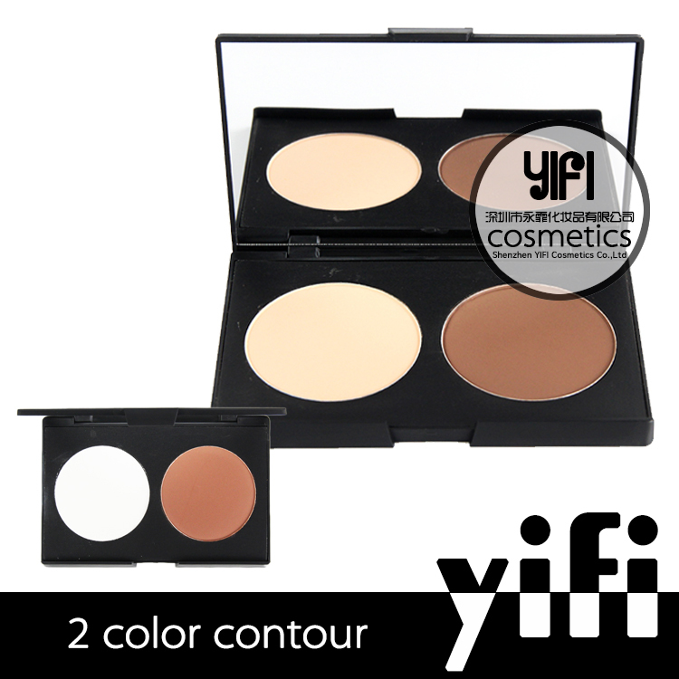 Cosmetics make your own brand face powder 2 colors contour kit foundation cream ingredients