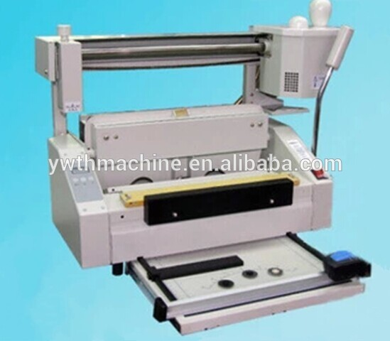 Table Top Soft Cover And Hard Cover Book Hot Glue Binding Machine
