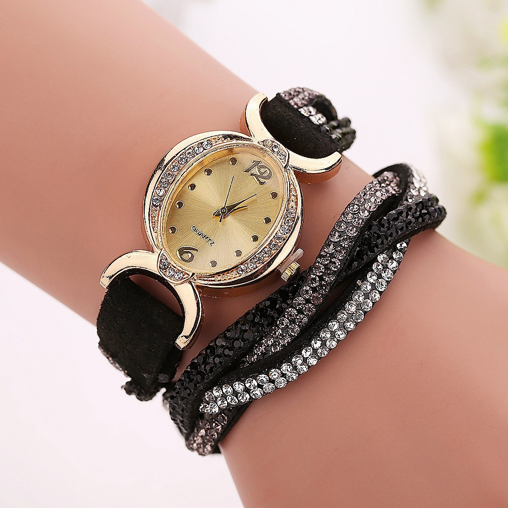 2905 leather printed watch bands rope bracelet watch women wrist watch