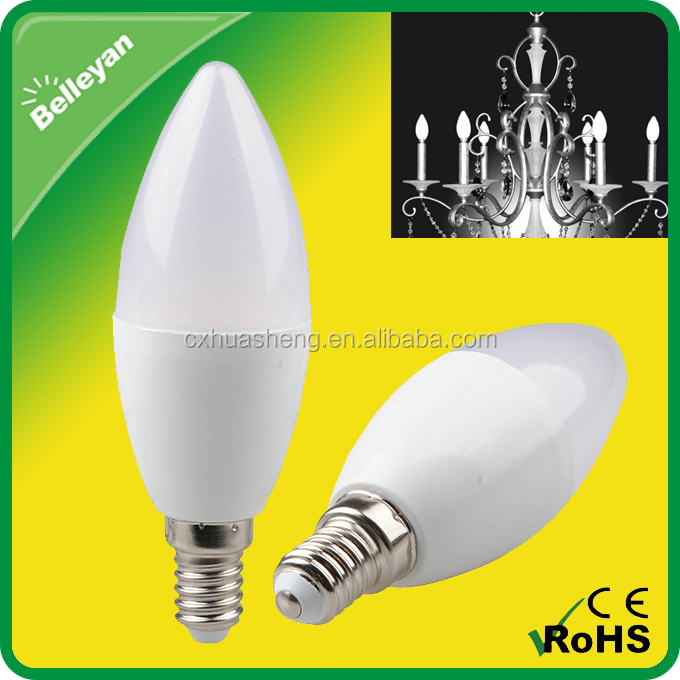 Candle lamp wholesale, 480LM E27 E14 led candle bulbs, 6W led candle light