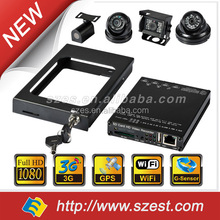 2017 New GPS 3G 4G WiFi 4ch MDVR/ vehicle mobile dvr with free CMS software with certificate
