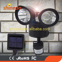 High Quality Dual Security Detector Solar Spot Light Motion Sensor Outdoor 22 LED Floodlight for Garden Park