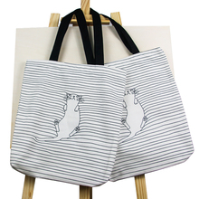 High quality Heavy Duty Two sides use Travel Cotton Canvas Tote Shoulder Bag