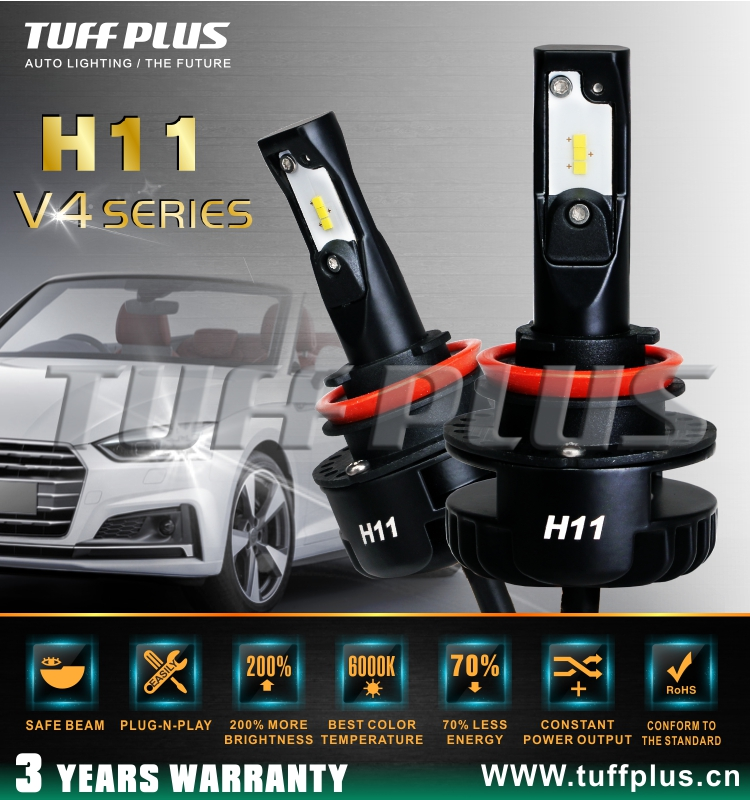 V4 H11 Hot Selling Single Beam LED headlight super bright conversion kit for auto cars