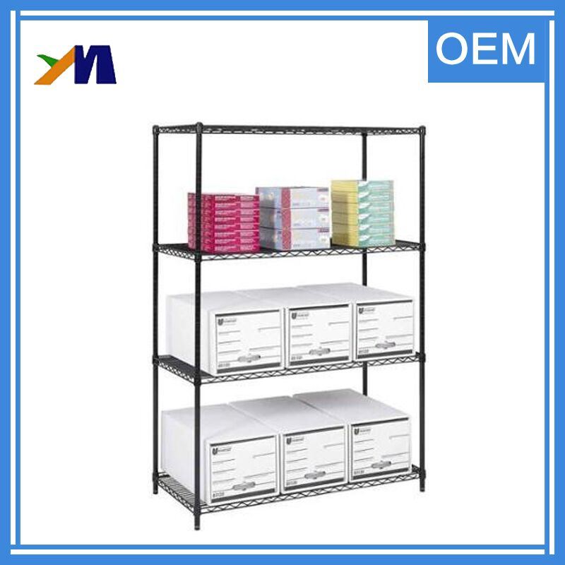 Chrome square wire shelving storage rack stand