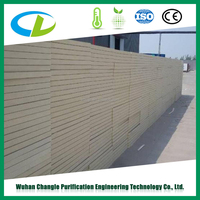 Chinese leading colored insulated polyurethane foam pu sandwich panel for wall and roof