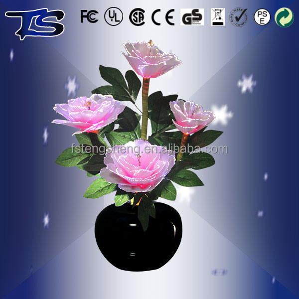 wholesale Fashion Decoration led artifical fiber optic <strong>flower</strong> for the Audiance Chamber