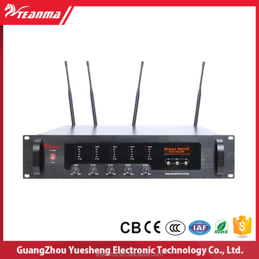 Multi wireless audio guide conference room sound system