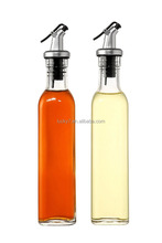 Olive Oil And Vinegar Glass Dispenser Bottles With Pourer,Limited Edition Glassware Serveware,Non-drip Pouring Spout.