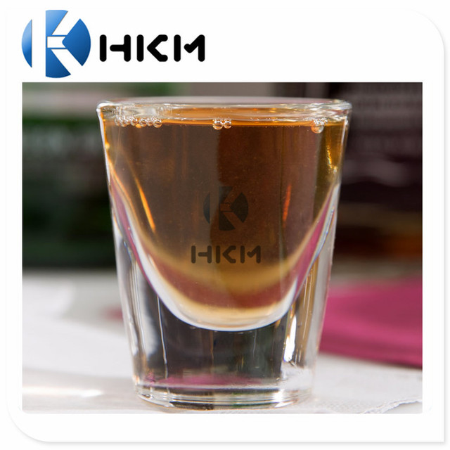 Promotional wholesale crystal plastic shot glass/ vodka whiskey shot mini glass
