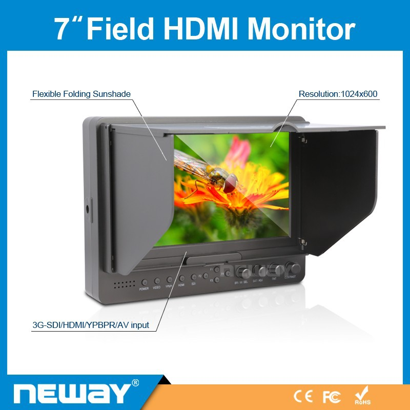fashion laptop monitor Professional for Camera Field 7 inch Lcd hd portable camera-top display