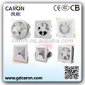 CB CE Full copper motor square exhaust fans with shutter