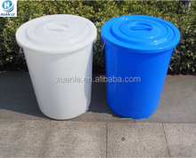 Stackable plastic bucket container with a lid and handle