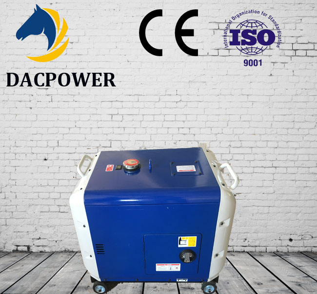 Home used air cooling single cylinder electric soundproof/silent automatic start new type diesel generator