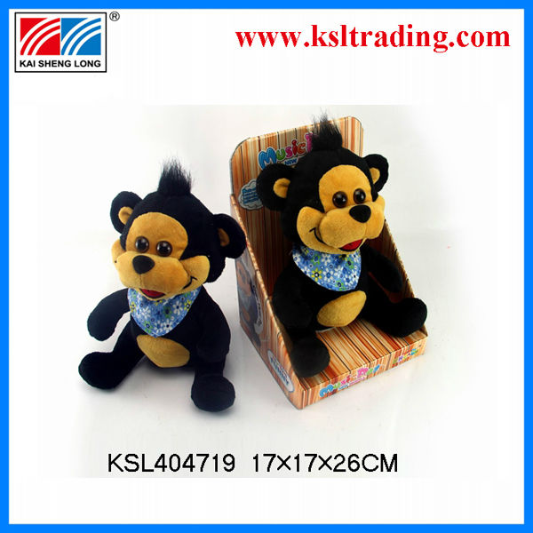 2014chinese wholesale toy singing talking EN71 TSAM B/O plush teddy bear with recorder for kids