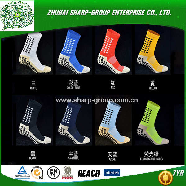 Low price 100% Polyester Customized 100% cotton sport football socks