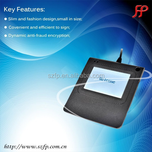 mobile pin pad signature pad 3.5inches, 480*320 TFT LCD