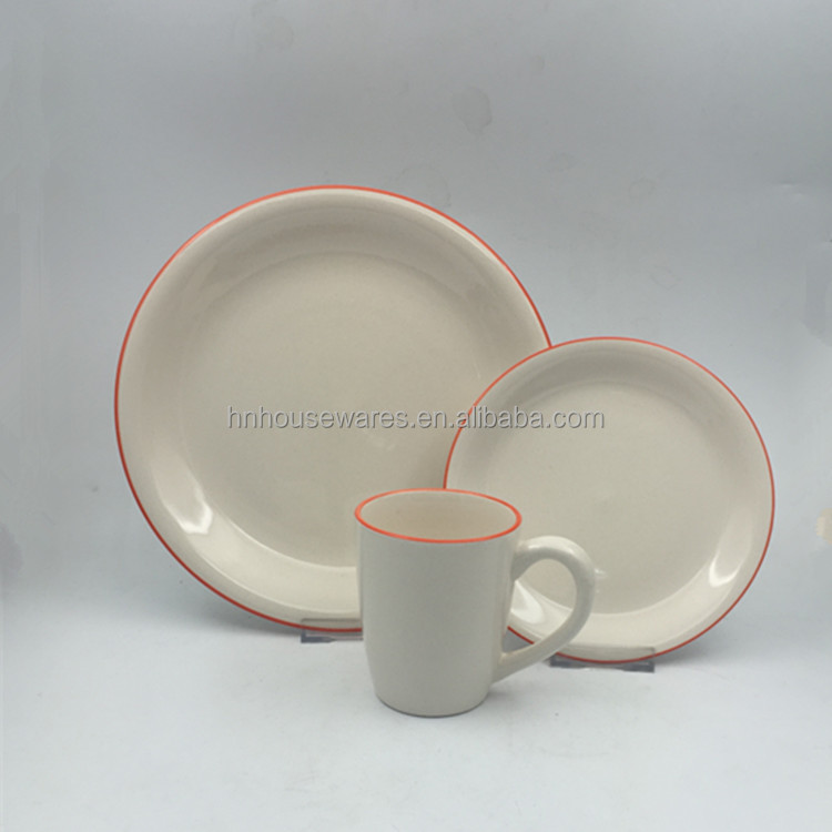 White porcelain hotel used Durable cheap dinnerware