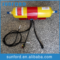 Engine car powder fire extinguisher fire extinguish for trains tanks ships vessels