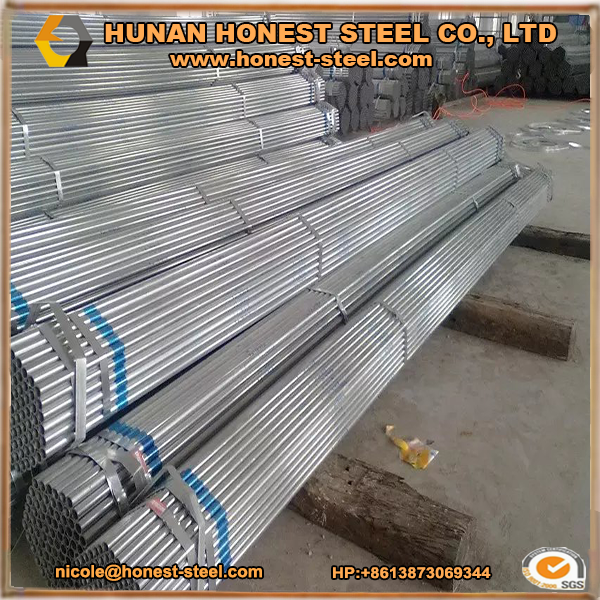 HDG galvanized Steel Pipes BS1387 Medium and Heavy Carbon steel G.I <strong>tube</strong> hot galvanizing painted <strong>tube</strong>