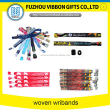 Cheap Custom Embroidered woven Wristbands No Minimum