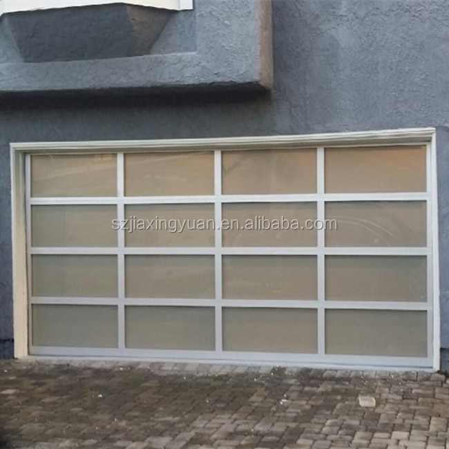 Sectional aluminum glass garage doors cost buy garage for Sectional glass garage door