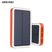 P083 portable solar panel power bank solar charger power bank waterproof