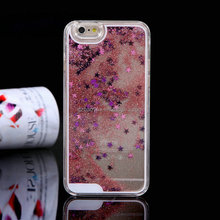 New Type Glitter star liquid cell phone case, Cartoon Phone Back Cover Phone Case For Iphone6