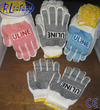 Petroleum Gloves with Pvc dots from Linyi