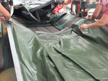 Tarpaulin Plastic Sheet with All Specifications Silver/Army Green Tarpaulin Garage Fire Resistant Tarpaulin