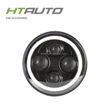 "HTAUTO Hot Sale Electric Car 7"" Round 40w LED Sealed-Beam Headlights Conversion"