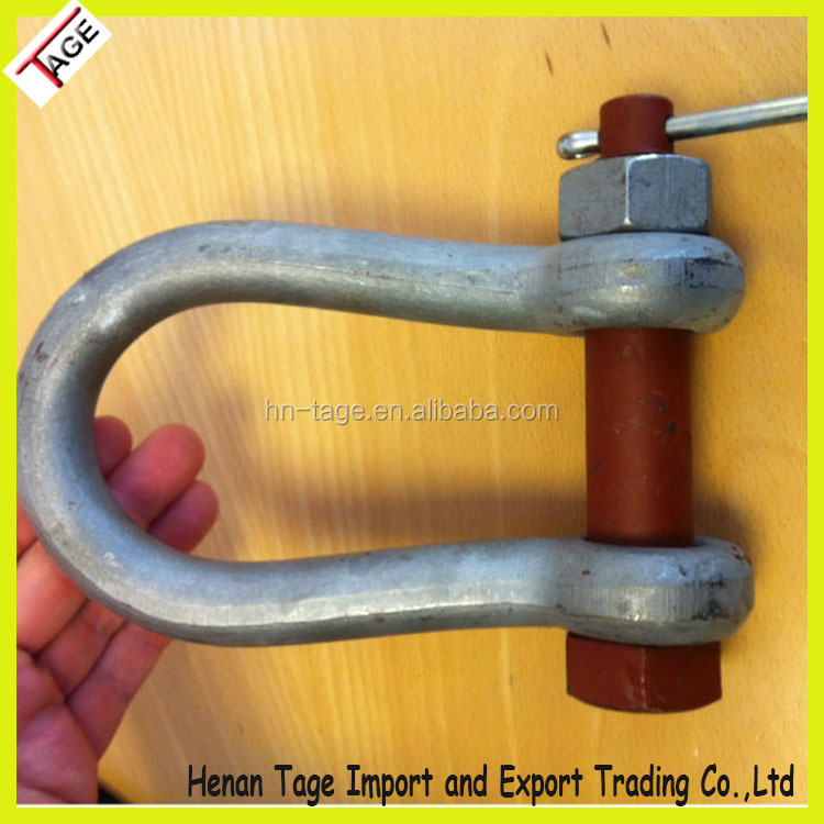 Regular Heavy Duty Forged Bolt Type Anchor D Shackles