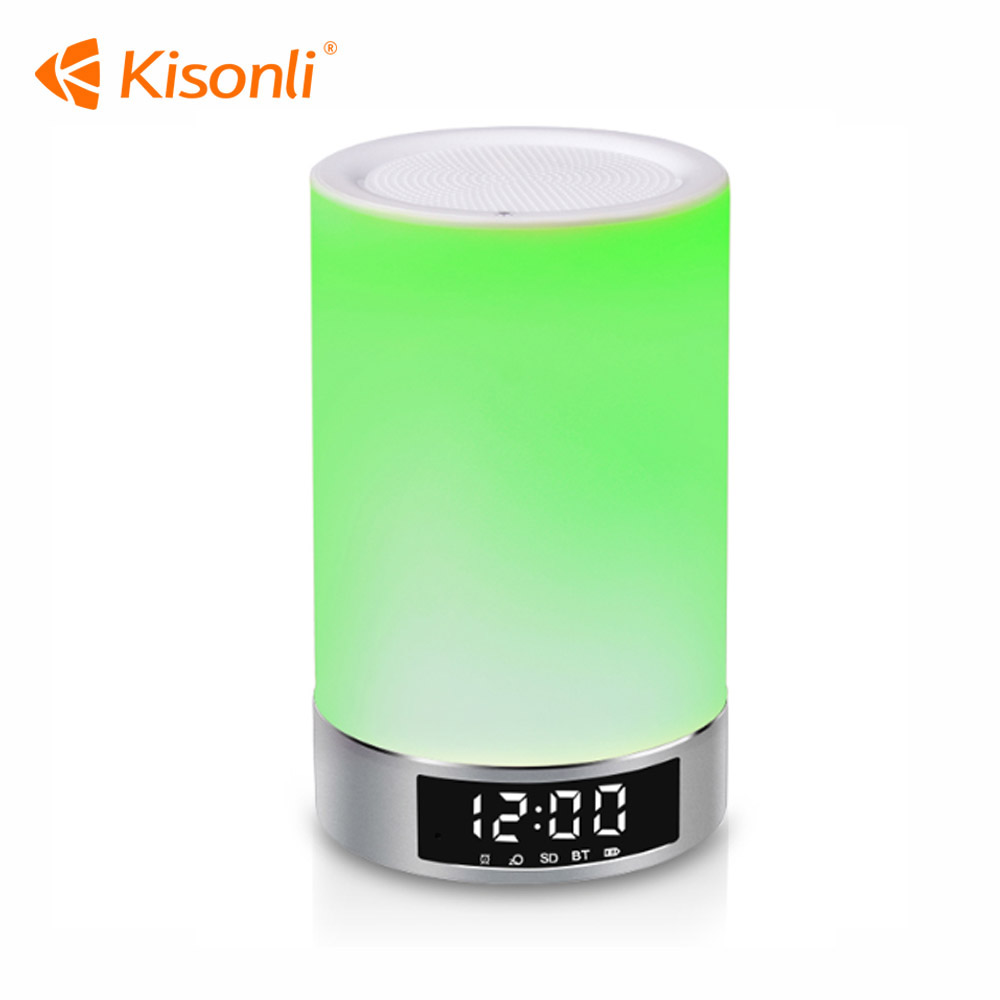 LED Touch Lamp Night Light Functional Bluetooth Speaker With TF Card Slot Music Sound Box Table Lamp Wireless Speaker