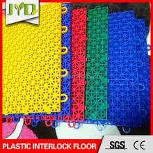 Interlock modular PP material plastic sports floor plastic basketball floor