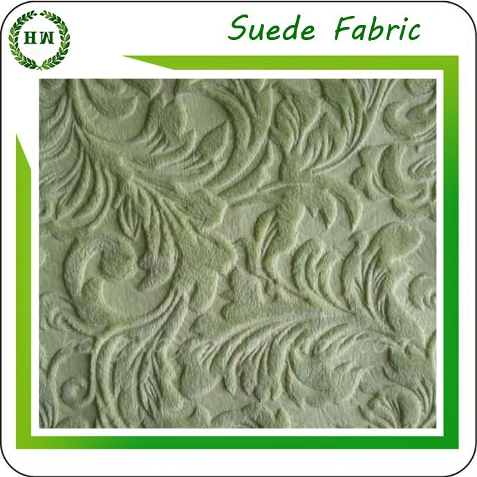 Hongway 100% polyester embossed suede for home textile / sofa fabric / garment