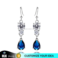 White Gold Product Crystal Blue Tear Beautiful Earring Designs for Women