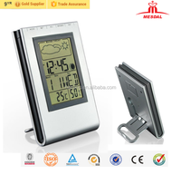 2018 indoor weather station and clock, weather station clock wholesale, weather forecast clock for gift promotion