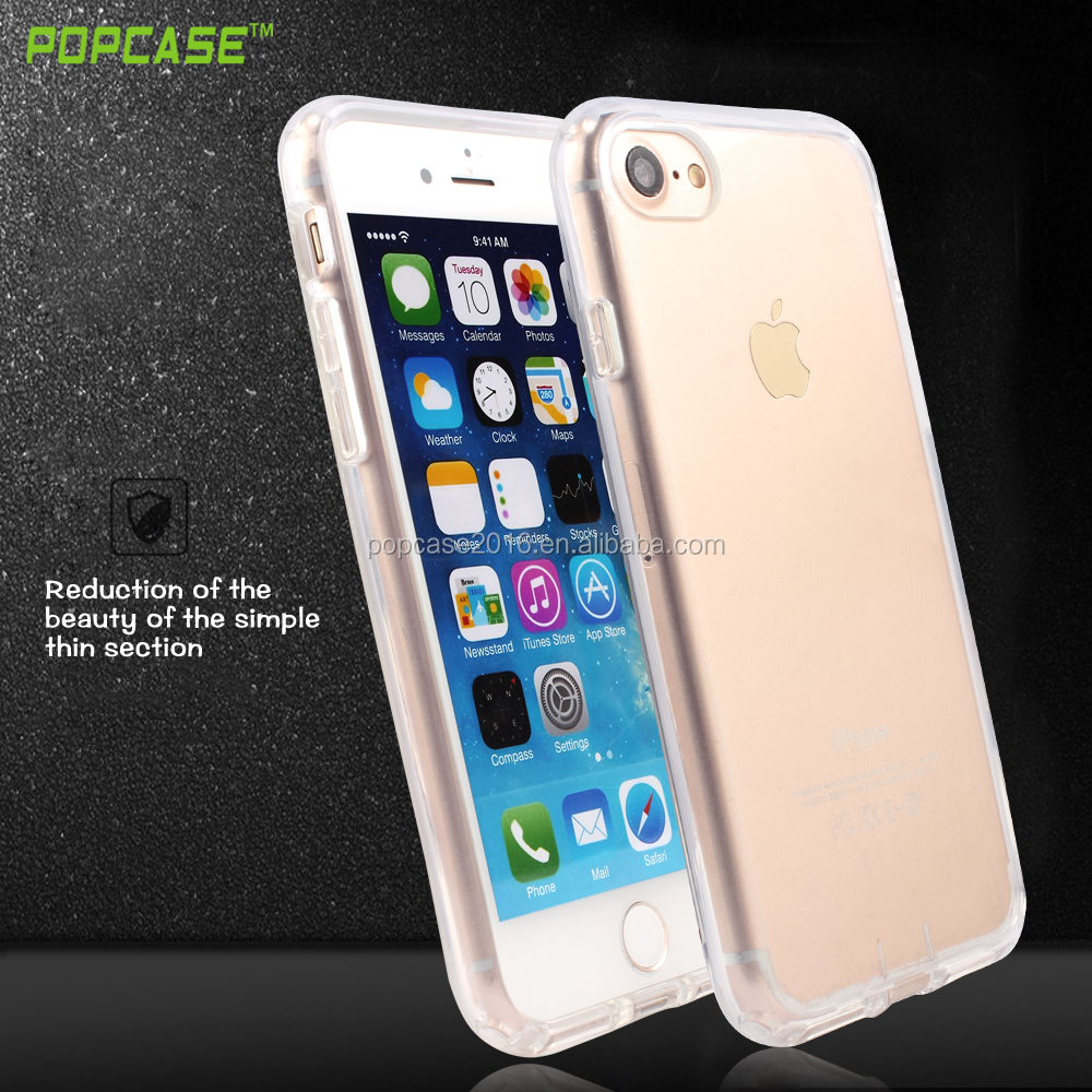2016 the Newest Transparent PC+ TPU Fashion Phone Back Covers Case For iphone 7 Case with high quality