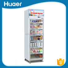 Used glass door display freezers/glass display showcase for supermarket