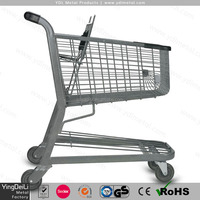 supermarket retail hand push food shopping cart for sale