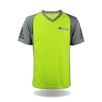 Custom design fluo blank v-neck high visibility t-shirt