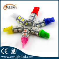 w5w 5050 9smd Candy Colors T10 Auto Led Bulbs Car Light Parking Lamp 12V