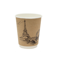 disposable custom double wall 4 oz winter drinking coffee paper cup