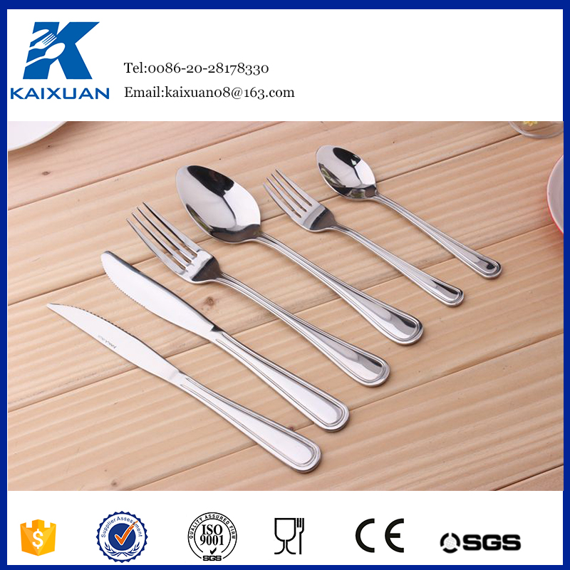 Different kinds of stainless steel hoffmayer 72pcs cutlery set