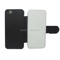 3D Blank sublimation flip leather case cover for ip5C