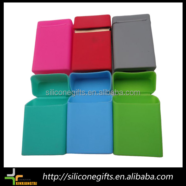 slim rectangular 20pc cigarette pack flip silicone cigarette cases for women