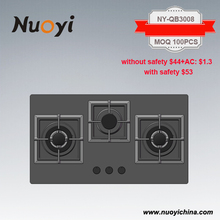 High quality glass top 3 burner table gas cooker stove
