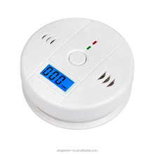 LCD CO monoxide alarm gas leak detector electric smoke detector alarm for home hotel factory travel